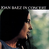 Joan Baez - Cover of 'In Concert' - four images www.vanguardrecords.com